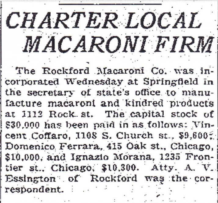 Charter Local Macaroni Firm