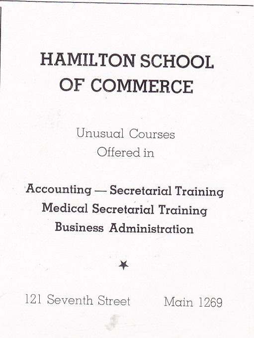 Hamilton School of Commerce