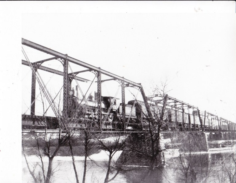 Ill Central RR Bridge + Train