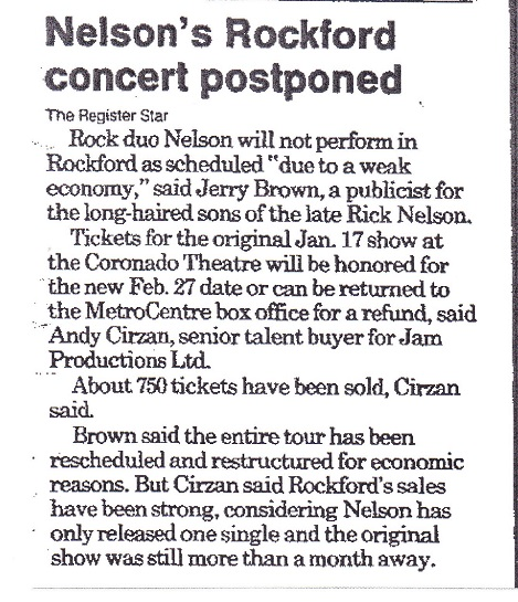 Nelson concert