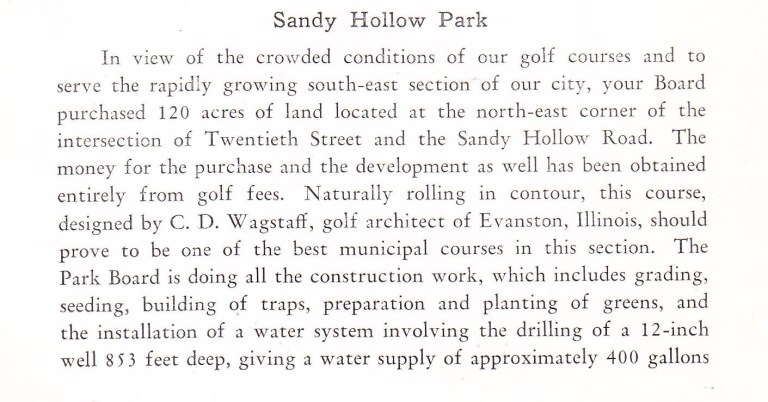 Sandy Hollow golf