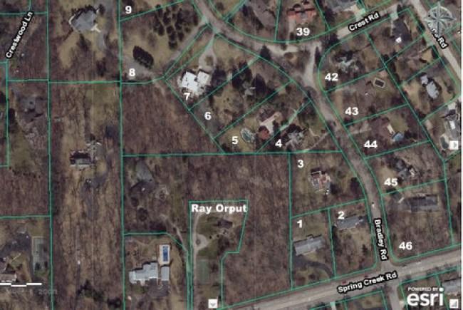 Bradley Heights Lot Map