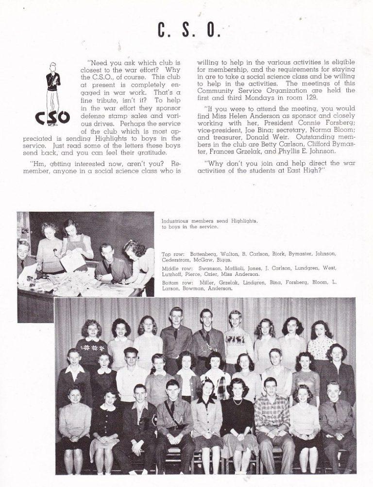 East 1944 C.S.O.