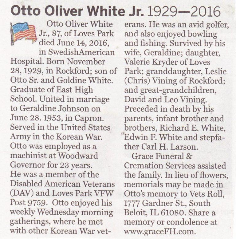 Otto Oliver White