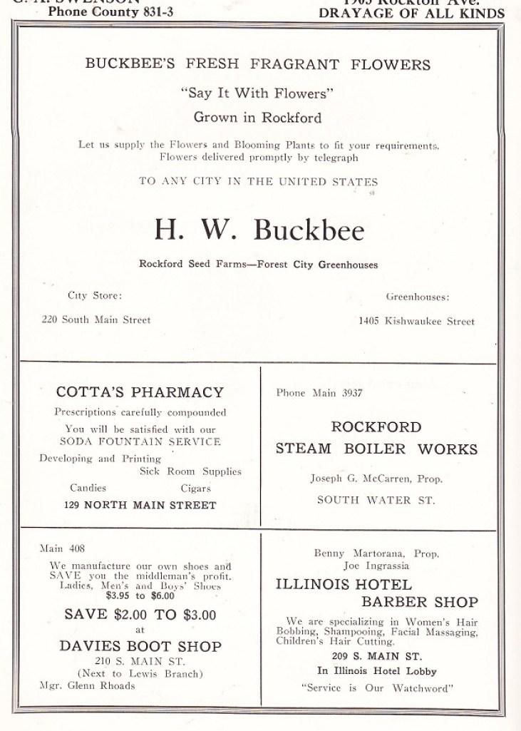 1923 St T ads