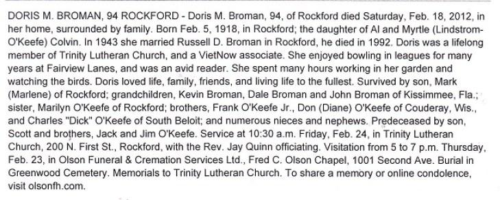Doris abd Russell Broman