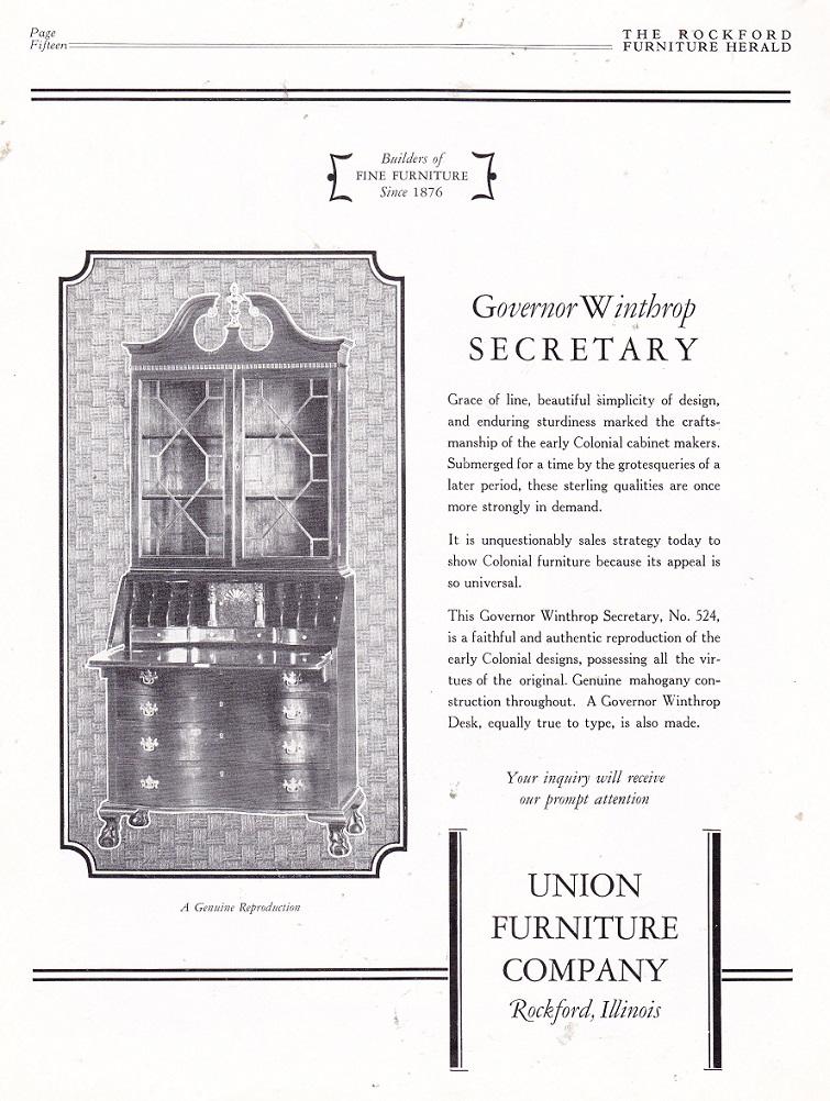 Union Furniture Company   March 1926