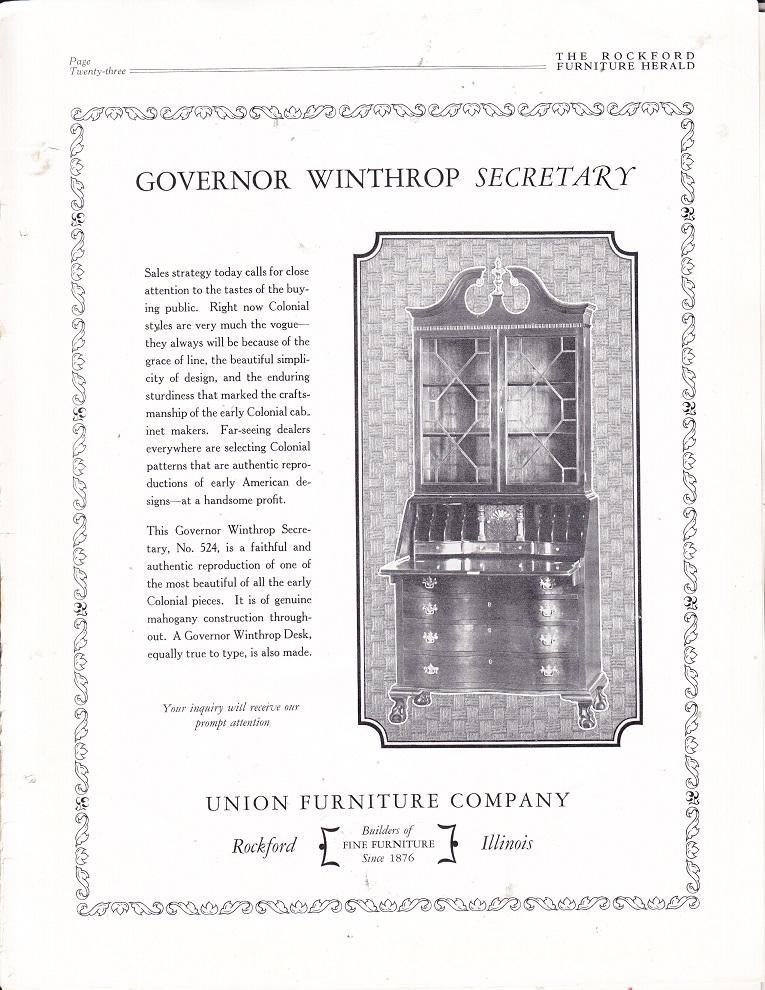 Union Furniture Co.   Apr 1926, Gov.