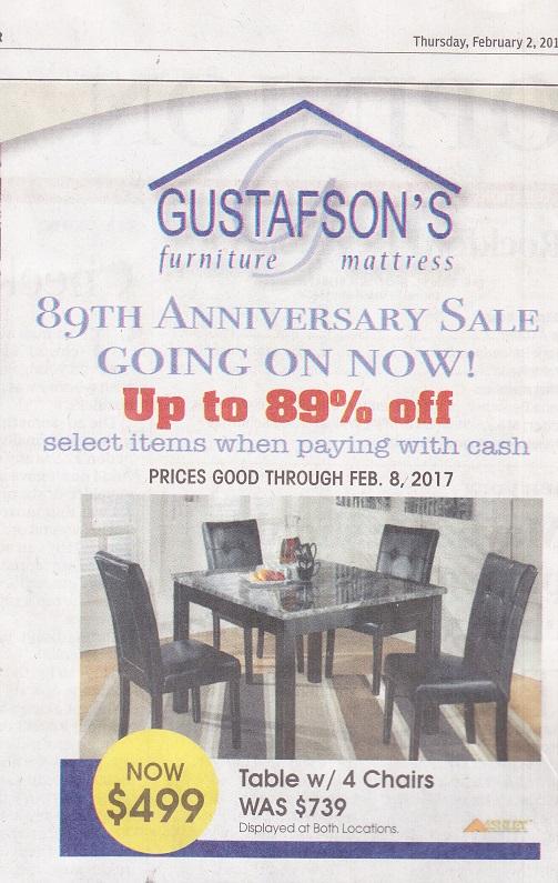 Gustafsonu0027s Furniture,ad 2017 U2013 See Also Martin Gustafson, Inc.