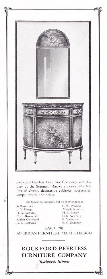 Rockford Peerless Furniture Co., Ad U2013 June 1926