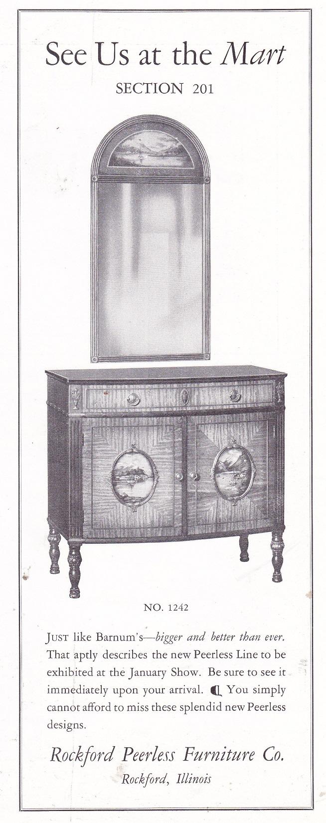 Rockford Peerless Furniture Co. U2013 Dec. 1926