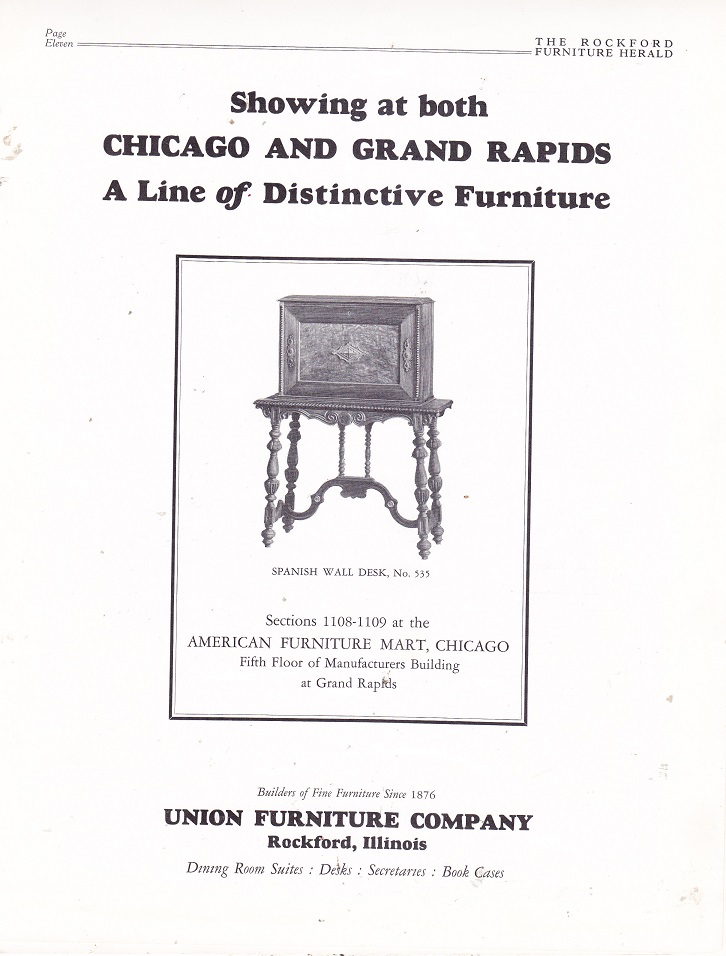 Great Union Furniture Co., Ad U2013 December 1926