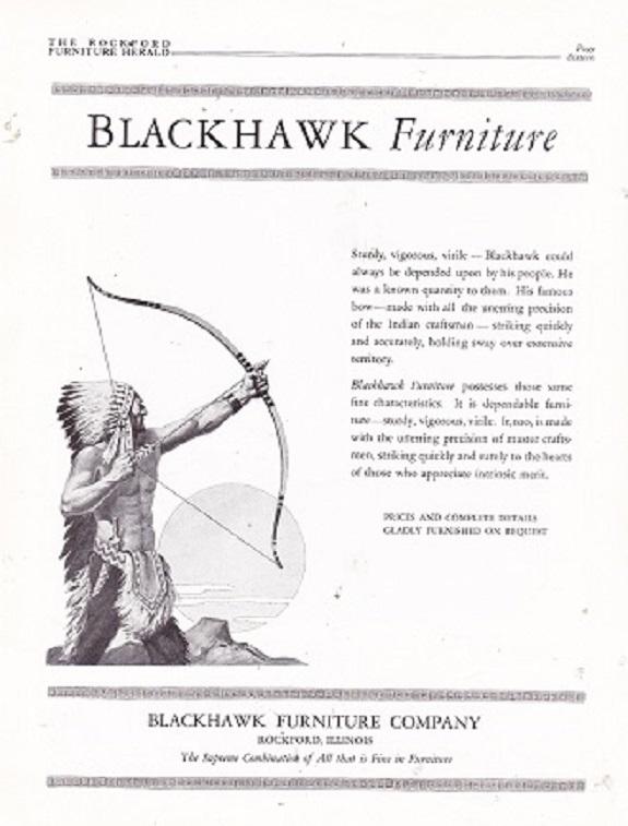 Source: Rockford Furniture Herald, January 1927, P 16. Blackhawk Furniture  ...