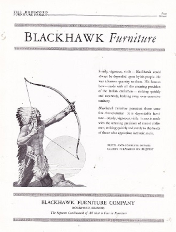 Source: Rockford Furniture Herald, January 1927, P 16. Blackhawk Furniture  ...