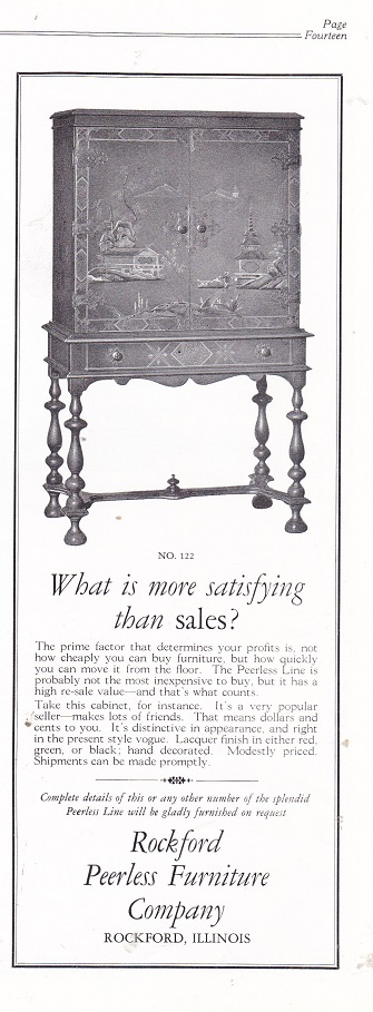 Nice Rockford Peerless Furniture Co., Ad U2013 March 1927