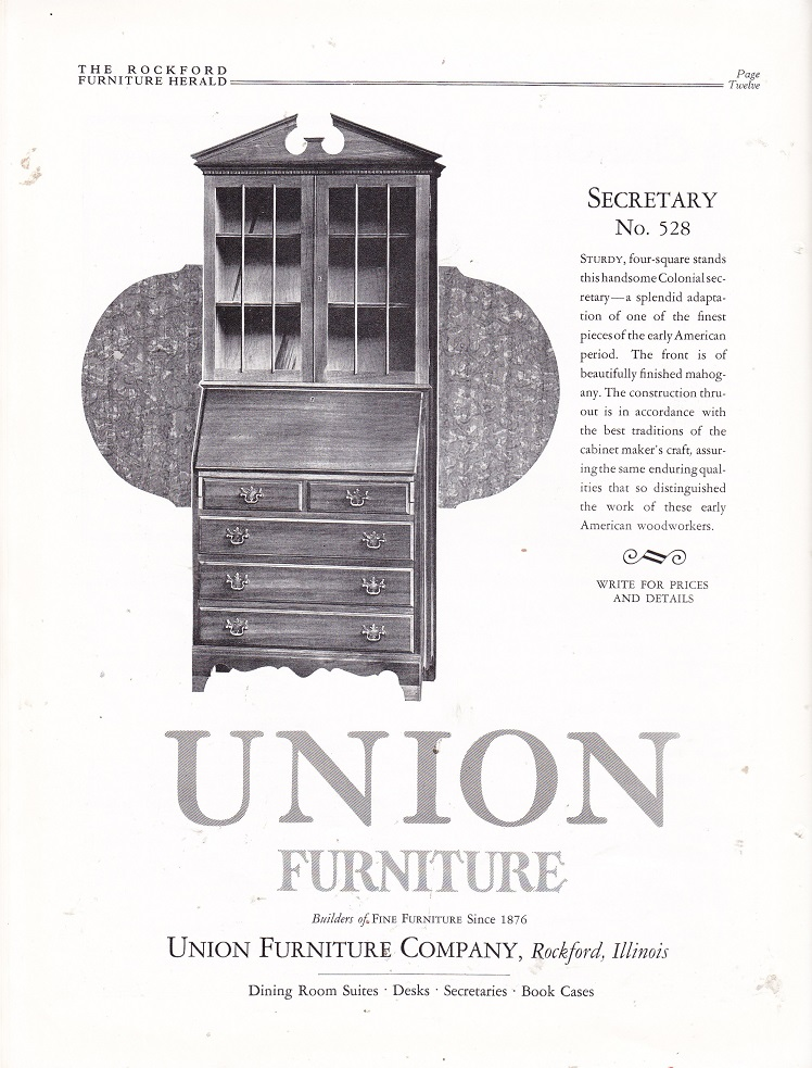 Exceptional Union Furniture Co. U2013 March 1927