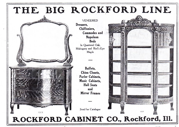 Rockford Cabinet Co., ad – 1906 – RPL's Local History