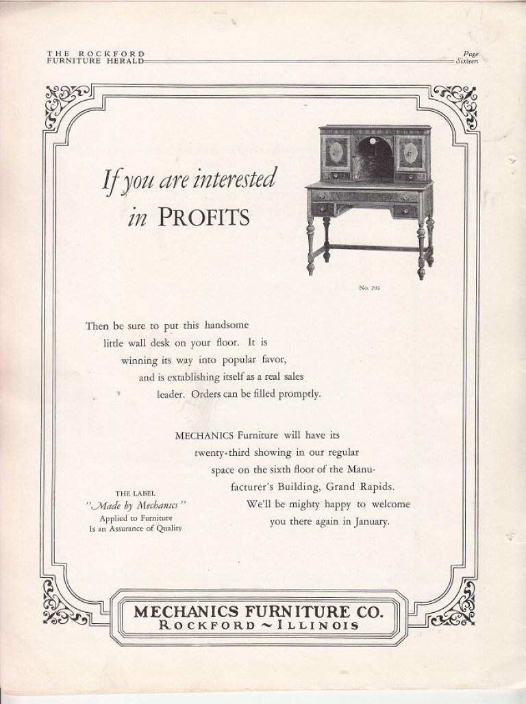 Mechanics Furniture Co Rpl S Local History