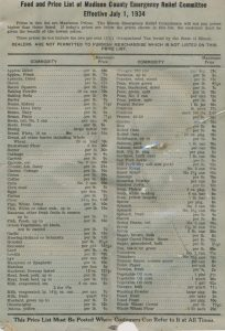 Food and Price list