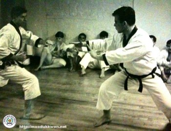 Another sparring photo with Master Eugene Perceval and Mr. Vincent Nunno.