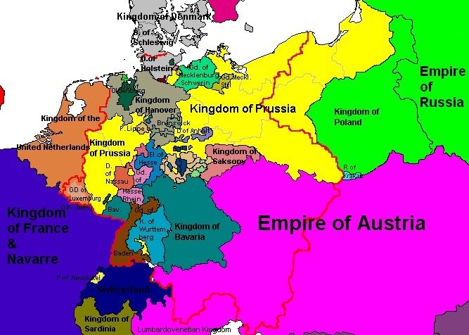 Map Of Germany Before Unification.Blood Iron And Diplomacy And The Unification Of Germany History Arch