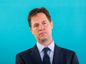 Nick Clegg is sad because he had wrecked his party