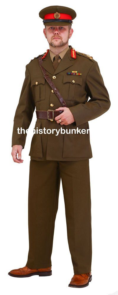 WW2 British army uniform for hire Staff officer sd