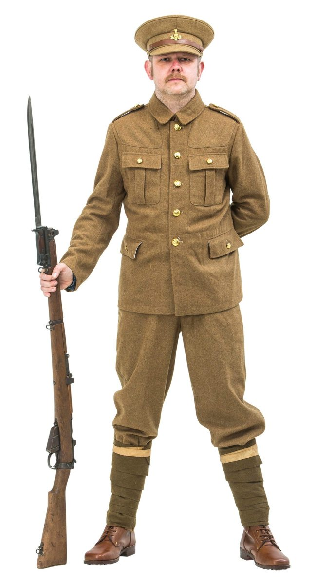 WW1 British uniform 1914 for hire | Reproduction WW1 and ...