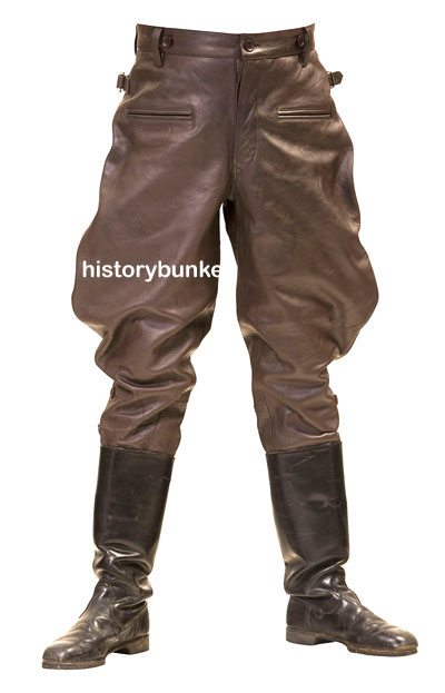 Ww2 German M32 Breeches Brown Leather Reproduction Ww1