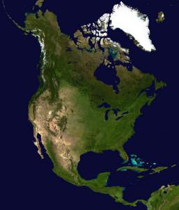 North_America_satellite_globe