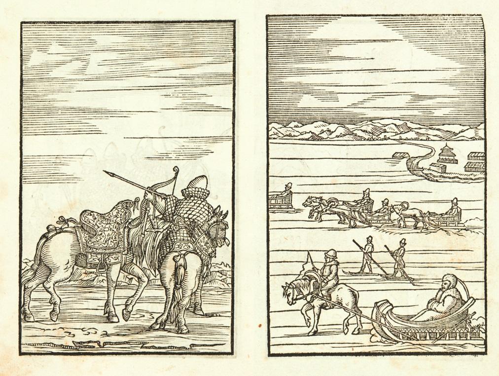 """Image from Sigmund von Herberstein, """"Comentari della Moscovia"""""""