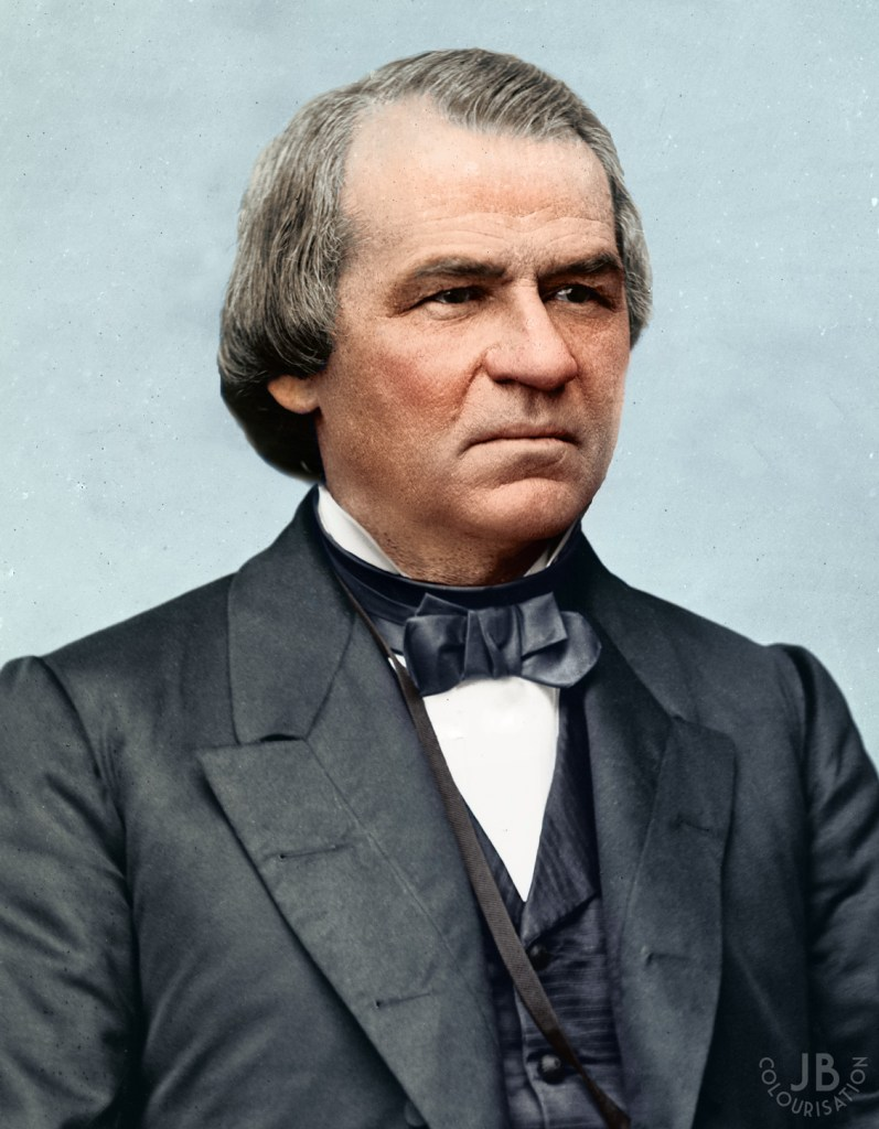 Andrew Johnson, President of the United States, photographed and colorized.