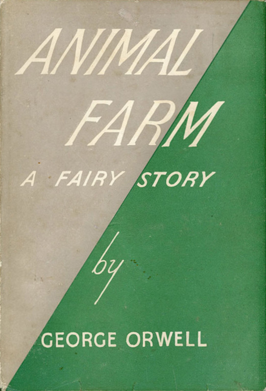 The 1st Edition Cover of Animal Farm by George Orwell