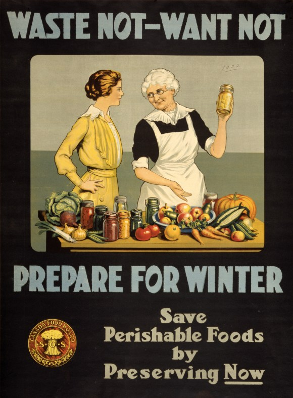 A poster from WWI encouraging food saving