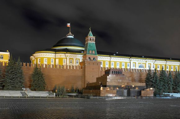 Lenin's Mausoleum in the Red Square, in Moscow, Russia