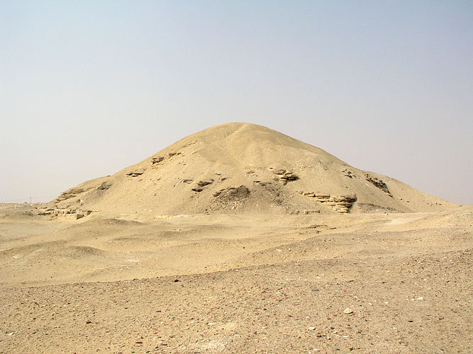 The Pyramid of Amenemhet I at Lisht, Egypt.