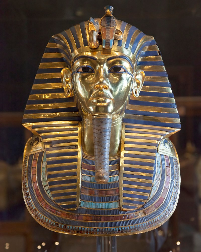 The Gold mask of Egyptian Pharaoh Tutankhamun