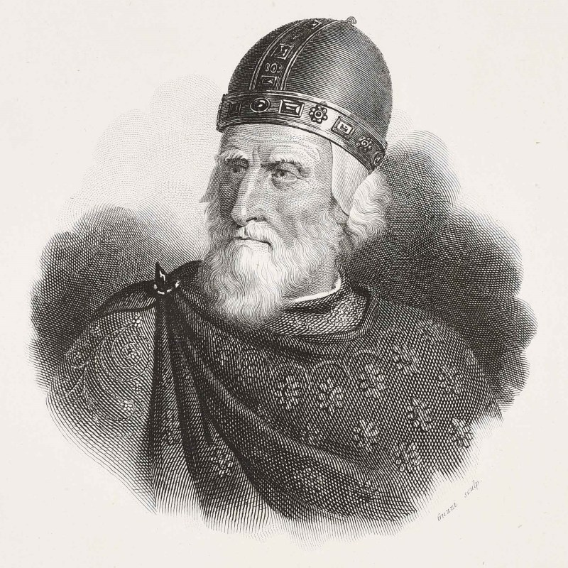 Medieval old person, enrico dandolo who died aged 98.