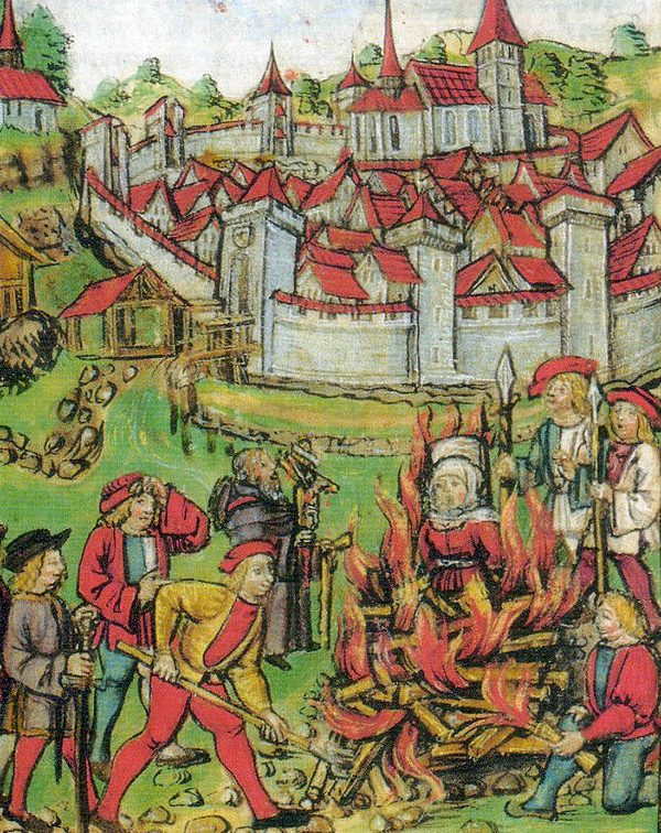 Witch burning in Switzerland in Medieval times
