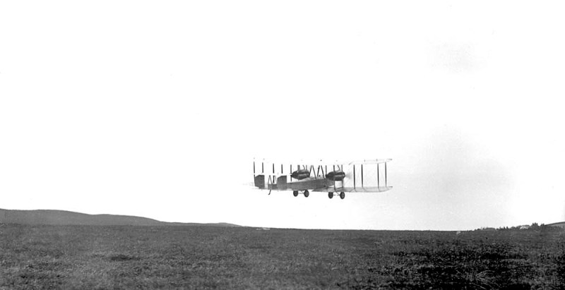 Photograph of the start of the First successful Transatlantic flight by Alcock and Brown. What year did this happen?
