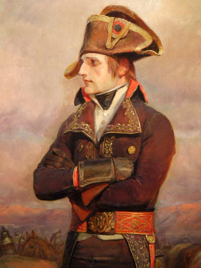 General Napoleon wearing military uniform