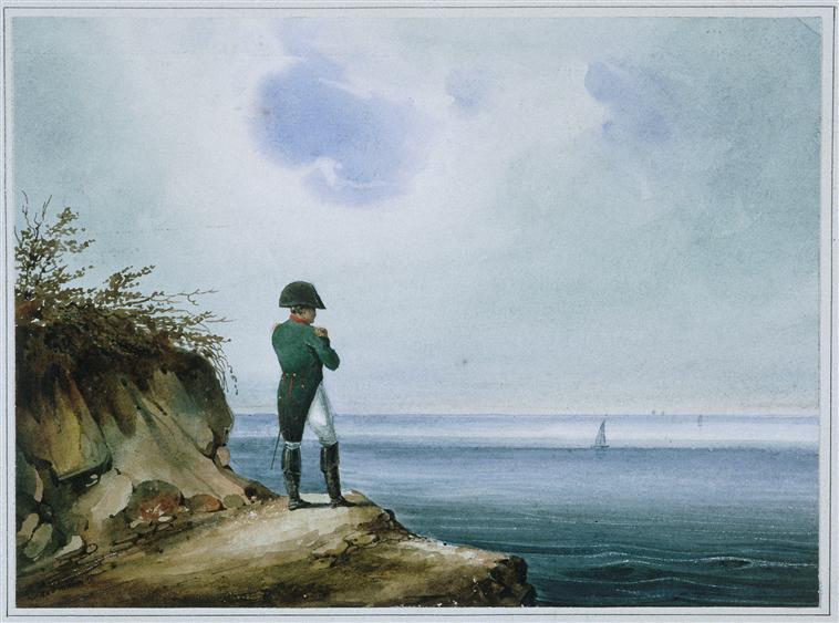Napoleon on a remote island.