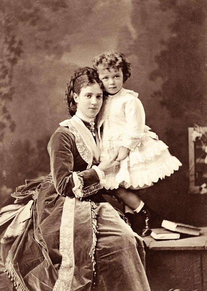 Maria Fyodorovna and her son Niki