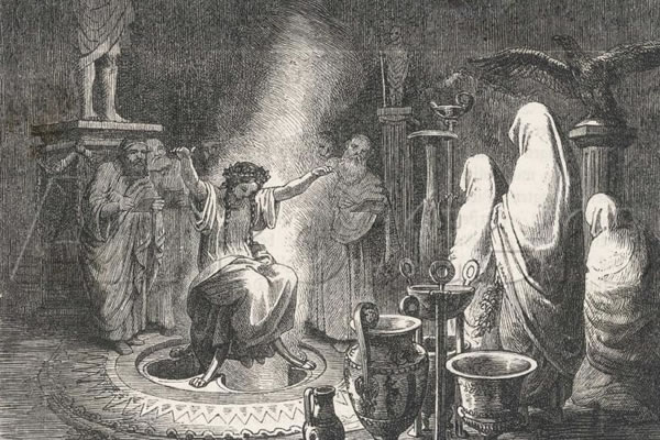 Heinrich Leutemann's The Oracle of Delphi Entranced.