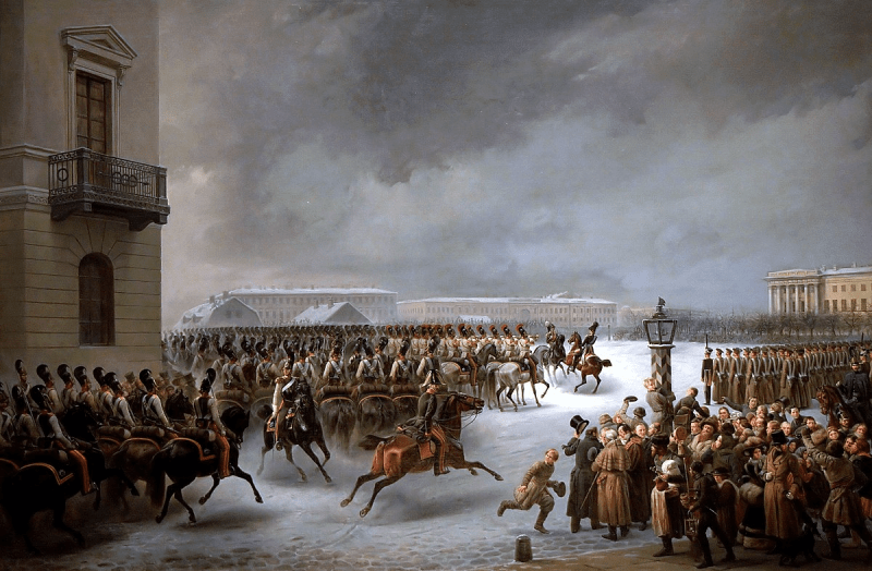 The Decembrist uprising of 1825