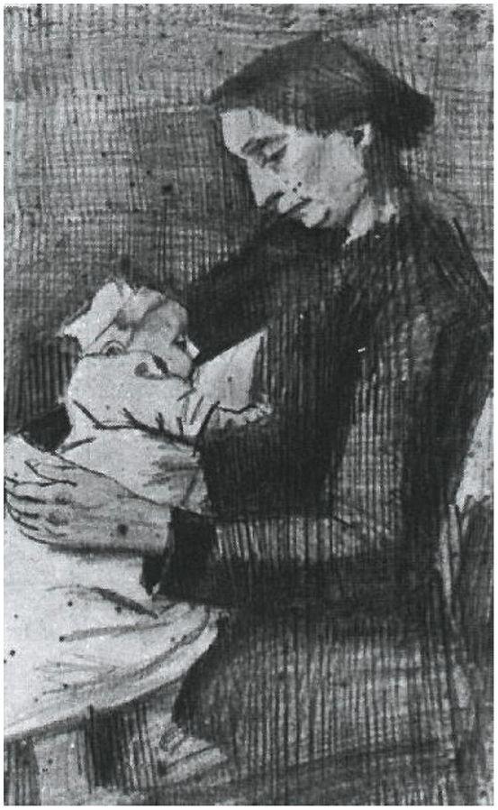 Sien Nursing Baby, 1882.