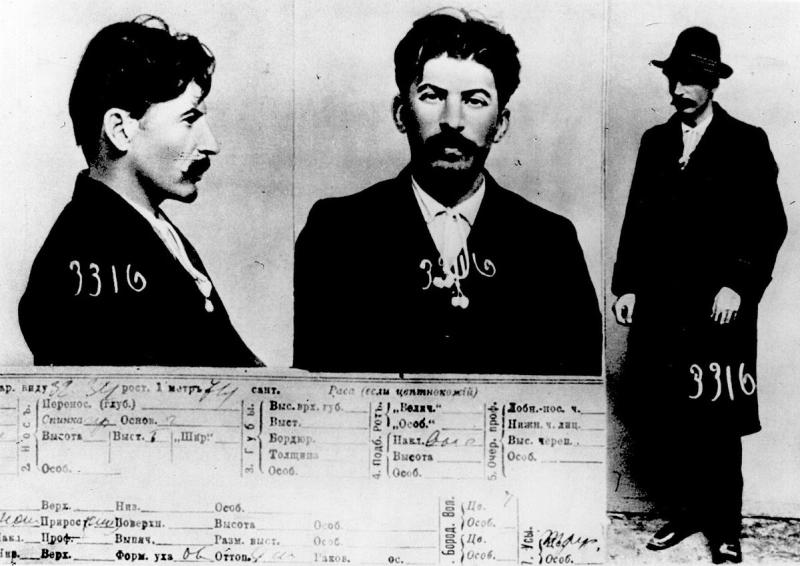 Mugshot of Stalin in 1911