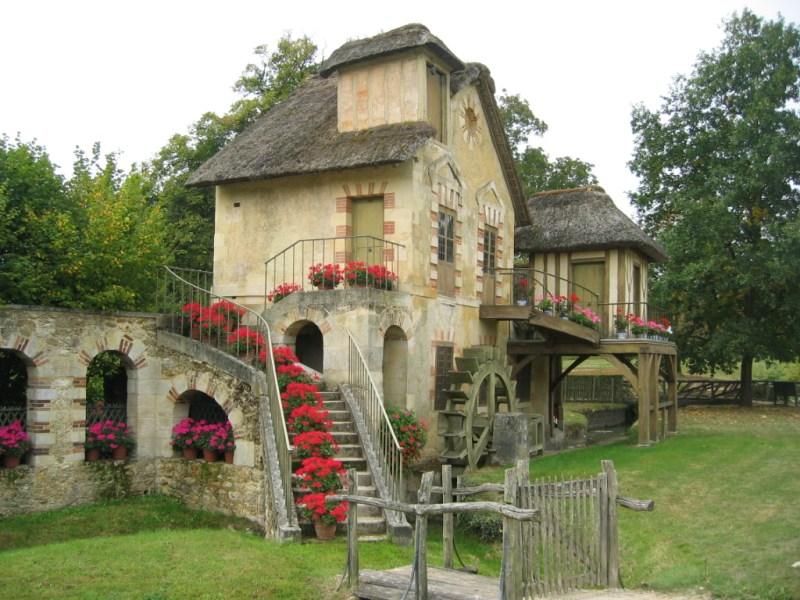 A mill in the  Le Hameau De La Reine.