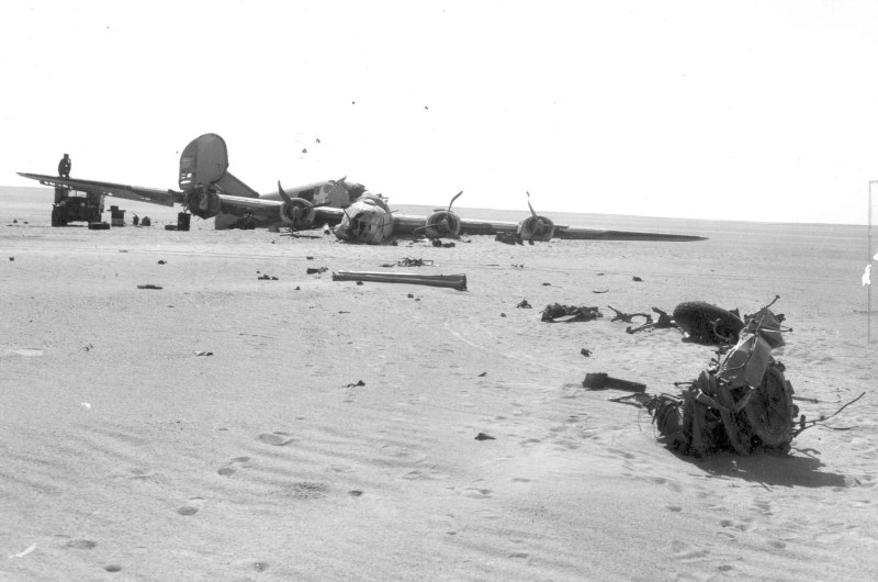 wreckage of the ConsolidatedB-24D Liberator Lady Be Good
