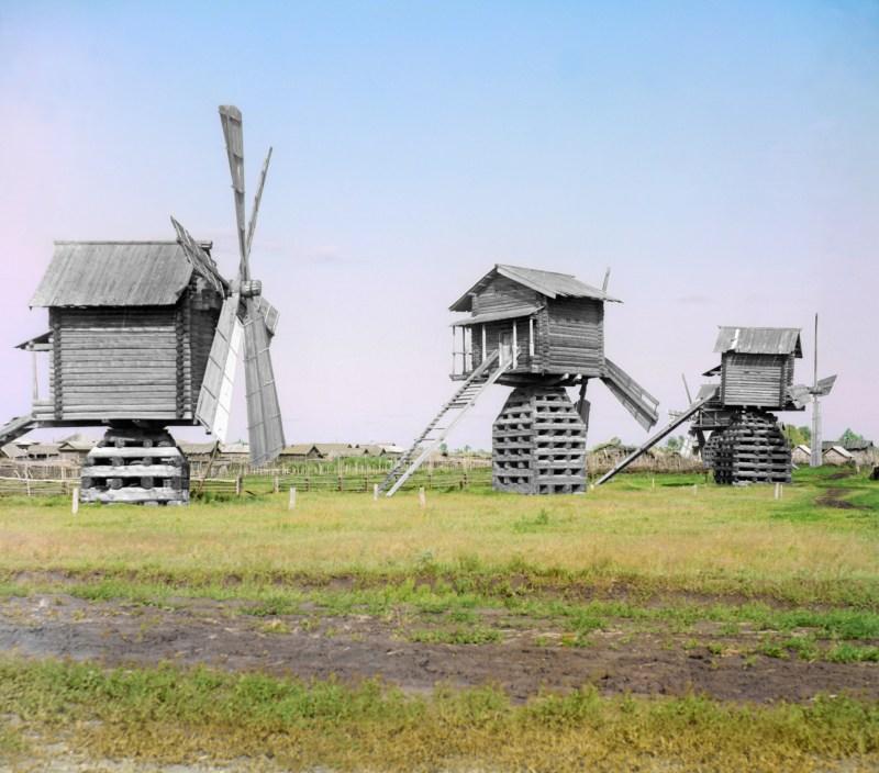 Windmills in Siberia, 1912